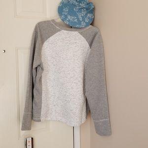 RBX fleece Gray & white pullover , sz XL